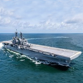 HII-Built America-Class Ship Tripoli Passes Navy Acceptance Trials - top government contractors - best government contracting event
