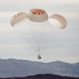 """SpaceX Announces Milestone With Crew Dragon """"˜Mark 3' Parachute System - top government contractors - best government contracting event"""