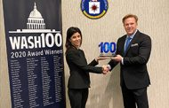 Jim Garrettson, CEO of Executive Mosaic, Presents CIA CIO Juliane Gallina Her First Wash100 Award