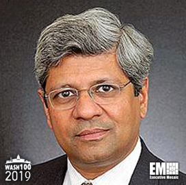ExecutiveBiz - Sudhakar Kesavan, ICF Chairman & CEO, Inducted to 2019 Wash100 for Leading ICF to Financial Success and Multiple Contract Awards in 2018