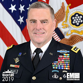 Gen. Mark Milley, Army Chief of Staff, Inducted Into 2019 Wash100 for Supporting Competitive Technology Efforts - top government contractors - best government contracting event
