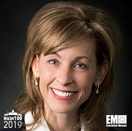 Leanne Caret, CEO of Boeing Defense, Space and Security, Inducted Into 2019 Wash100 for Business and Contract Portfolio Expansion Leadership - top government contractors - best government contracting event