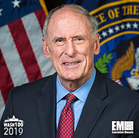 DNI Dan Coats Selected to 2019 Wash100 for Leading U.S. Intelligence Operations, Supporting National and Homeland Security - top government contractors - best government contracting event