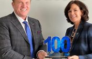 Jim Garrettson, CEO of Executive Mosaic, Presents Dawne Hickton, COO & President of ATN for Jacobs, Her First Wash100 Award