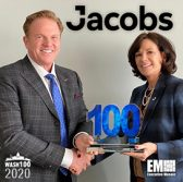 Jim Garrettson, CEO of Executive Mosaic, Presents Dawne Hickton, COO & President of ATN for Jacobs, Her First Wash100 Award - top government contractors - best government contracting event