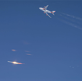 Virgin Orbit Demos Rocket Launch From Carrier Aircraft - top government contractors - best government contracting event