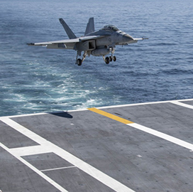 General Atomics-Built Launch, Recovery Systems Hit Performance Milestone on Navy Aircraft Carrier - top government contractors - best government contracting event