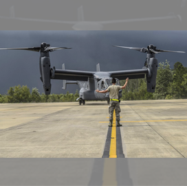 Bell-Boeing Team Marks 400th Osprey Aircraft Delivery - top government contractors - best government contracting event