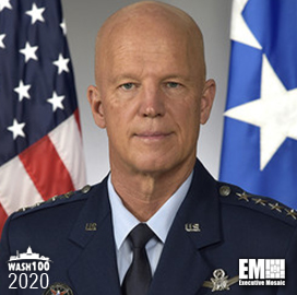 ExecutiveBiz - Gen. John Raymond, Commander of U.S. Space Command, Inducted Into 2020 Wash100 for Strengthening Warfighter Readiness, Pushing for U.S. Space Force