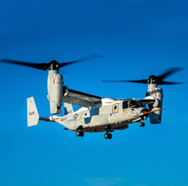 Navy Receives CMV-22B Aircraft from Bell-Boeing Team - top government contractors - best government contracting event