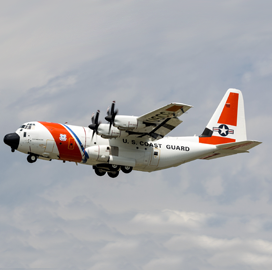 Lockheed Conducts Flight Test of Updated HC-130J Aircraft for Coast Guard - top government contractors - best government contracting event