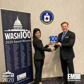 Jim Garrettson, CEO of Executive Mosaic, Presents CIA CIO Juliane Gallina Her First Wash100 Award - top government contractors - best government contracting event