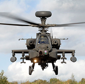 ExecutiveBiz - Boeing Gets $54M Army Modification for Apache Helicopter Retrofit Kits, Software Dev't Services