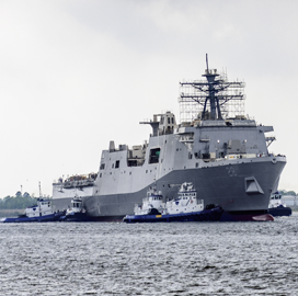 HII Tests Electronic Systems Aboard Navy's 12th Amphibious Transport Dock Ship