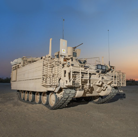 Army's First Armored Multi-Purpose Vehicle Rolls Off BAE Production Line
