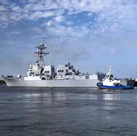 HII-Built Delbert D. Black Destroyer Heads to Florida Homeport