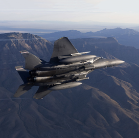 Air Force OKs Raytheon Technologies-Made Weapon for F-15 Mission Deployment