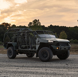 General Motors Subsidiary Hands Army First Infantry Squad Vehicle