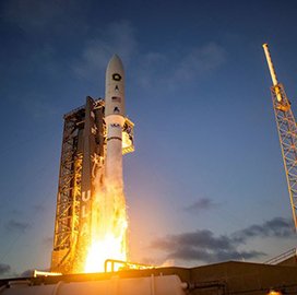 Northrop-Built Boosters Propel Atlas V Rocket Carrying NRO Payload