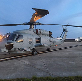 Lockheed Taps CAE for Navy Helicopter Sensor Integration Support