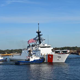Coast Guard's Ninth Legend-Class Cutter Departs HII Shipbuilding Facility