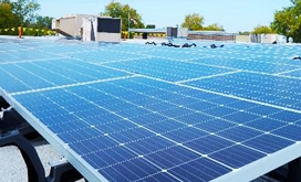 solar panel system at Northrop Grumman Rolling Meadows site