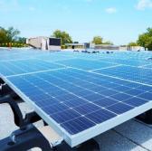 solar panel system at Northrop Grumman Rolling Meadows site