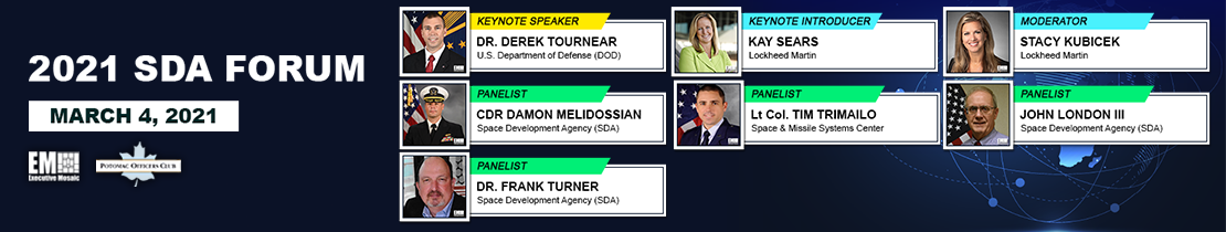 SDA Director Derek Tournear Named to 2021 Wash100 for Driving US Space Dominance; Expanding Satellite Tech - top government contractors - best government contracting event