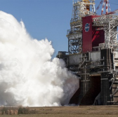 NASA SLS core stage hot-fire test