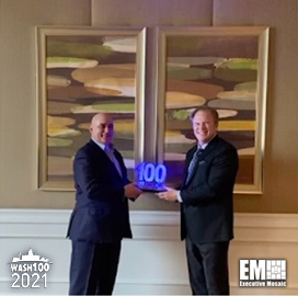 Raytheon Intelligence & Space President Roy Azevedo Receives 2021 Wash100 Award From Executive Mosaic CEO Jim Garrettson