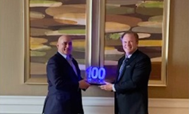 Roy Azevedo Receives 2021 Wash100 Award From Jim Garrettson