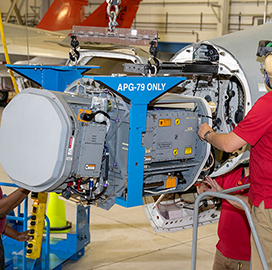 Raytheon Delivers Prototype AESA Radar to Marine Corps for F-18 Flight Testing