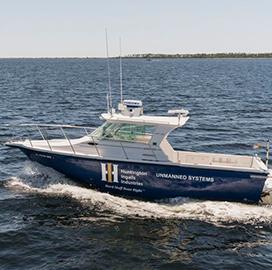 Huntington Ingalls Demos Autonomous Capability of Proteus Unmanned Surface Vessel - top government contractors - best government contracting event