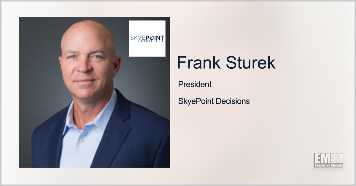 Frank Sturek Steps Up as SkyePoint Decisions President; Heather Conigliaro Named COO - top government contractors - best government contracting event