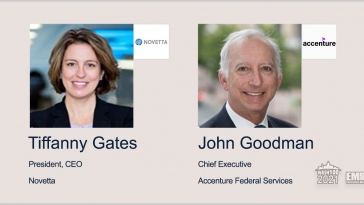 Executive Spotlight: Novetta President, CEO Tiffanny Gates & Accenture Federal Services Chief Executive John Goodman - top government contractors - best government contracting event