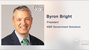 KBR Wins $58M Follow-On Award for Air Force Tech Sustainment Work; Byron Bright Quoted - top government contractors - best government contracting event