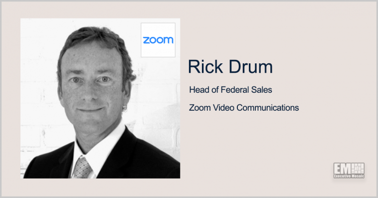 Zoom for Government Gets Air Force Impact Level 4 Authorization; Rick Drum Quoted - top government contractors - best government contracting event