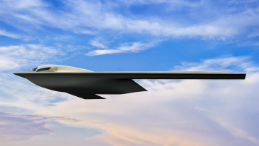 Air Force Releases New Graphic Design of Northrop B-21 Bomber Aircraft - top government contractors - best government contracting event