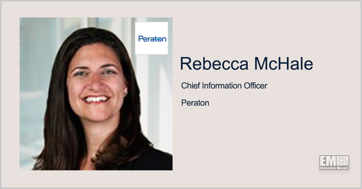 Peraton Names Former Booz Allen Exec Rebecca McHale as CIO, Announces Two More C-Level Appointments - top government contractors - best government contracting event