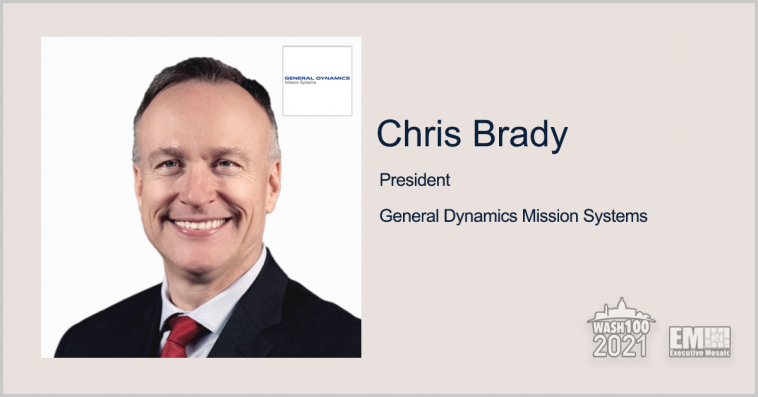 Executive Spotlight: Chris Brady, President of General Dynamics Mission Systems - top government contractors - best government contracting event