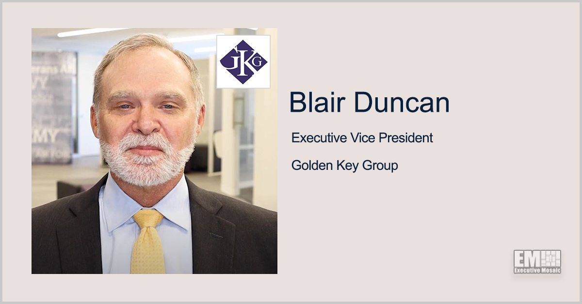 Former HHS Exec Blair Duncan Named Golden Key Group's EVP of Federal Innovation, Transformation - top government contractors - best government contracting event