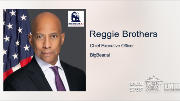 Executive Spotlight: GovCon Expert Reggie Brothers, CEO of BigBear.ai - top government contractors - best government contracting event