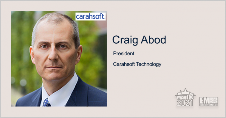 Carahsoft Expands Provider List Under DOD IT, Cybersecurity Contracts; Craig Abod Quoted - top government contractors - best government contracting event
