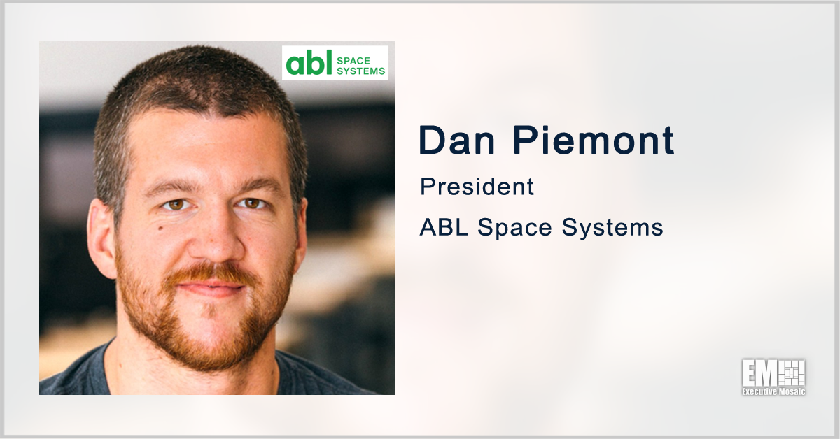 ABL Space to Serve as Launch Provider for NASA Cryogenic Demo; Dan Piermont Quoted