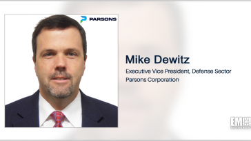 Parsons Enters Sensor Development Partnership; Mike Dewitz Quoted - top government contractors - best government contracting event