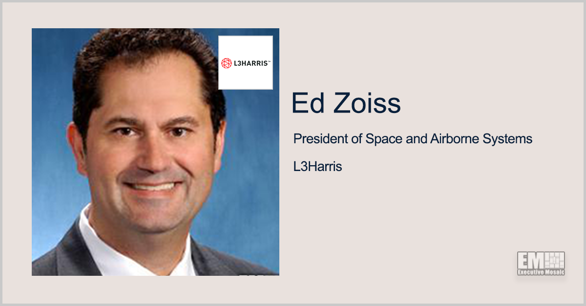 L3Harris Receives SDA's OK for Missile Tracking Satellite Prototype Design; Ed Zoiss Quoted