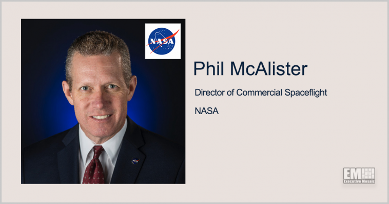 Phil McAlister: NASA Reviewing Proposals for Commercial Space Stations Development - top government contractors - best government contracting event