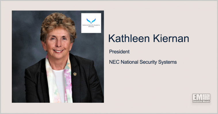 NEC Names Kathleen Kiernan as President of National Security Systems Subsidiary - top government contractors - best government contracting event