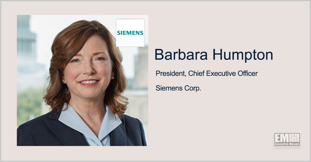 Siemens to Demonstrate Digital Tech for FDA's Advanced Manufacturing Program; Barbara Humpton, Tina Dolph Quoted