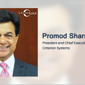 Criterion's Promod Sharma: Protas Acquisition Part of Intell Business Growth Push - top government contractors - best government contracting event
